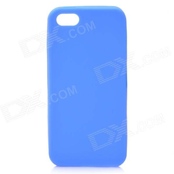 Protective Soft Silicone Back Case for Iphone 5 - Blue stylish bubble pattern protective silicone abs back case front frame case for iphone 4 4s