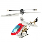 Rechargeable 3.5-CH IR Remote Controlled R/C Helicopter w/ Gyroscope - Red + White