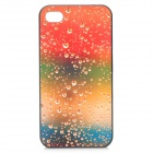 Soda Bubbles Style Protective Plastic Back Case for Iphone 4 / 4S - Orange + Yellow + Green