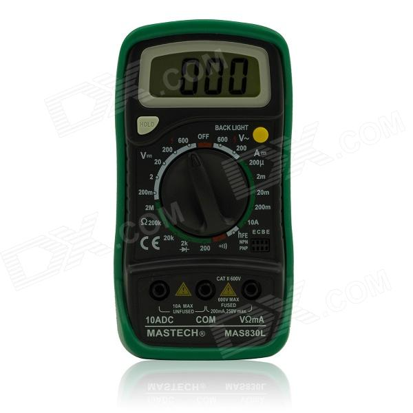 MAS830L 1.8 LCD Digital Multimeter - Black + Green (1 x 6F22) bork p603