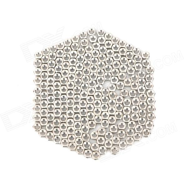 DIY 3mm Iron Hexagon Nut - Silver (200 PCS)
