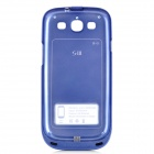 Telnova D9300 2000mAh External Battery Back Case for Samsung Galaxy S3 i9300 - Blue + Black