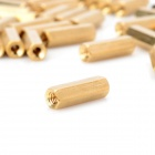 M3 x 15mm Latão Hexagon Cilindro - Ouro (50 PCS)