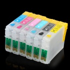 6-Color Refillable Inkjet Cartridge for Epson R270 / R290 + More