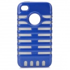 Stylish Protective Back Case for iPhone 4 / 4S - Blue