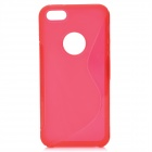 S Shaped Protective TPU Back Case for Iphone 5 - Red