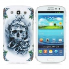 Skull Pattern Protective Plastic Case for Samsung Galaxy S3 i9300 - Grey + White