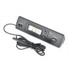 1.4'' LCD Dual Sensors Digital Temperature Meter - Black (1 x AAA / 144cm)