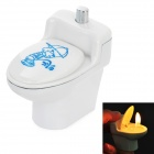 Creative Plastic Closestool Style Butane Gas Lighter - White