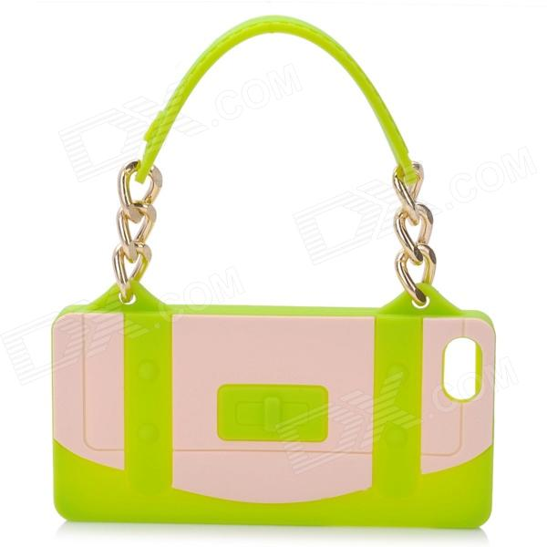 все цены на  Hand Bag Style Protective Silicone Back Case for Iphone 5 - Green  онлайн