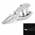 Needle-Nose Pliers Style Butane Gas Lighter - Silver