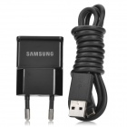 Original Samsung Galaxy Note 2 N7100 EU Plug Power Adapter w / USB Datenkabel - Schwarz