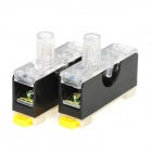 10A 220V Fuse Holder w / Fuse Tube - Black + White (2 PCS)