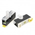 10A 220V Fuse Holder w/ Fuse Tube - Black + White (2 PCS)