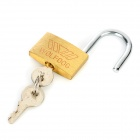 Steel Lock Padlock w/ 3 Keys - Golden
