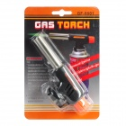 Outdoor Windproof 1300'C Jet Flame Butane Torch Lighter - Silver + Black + Orange