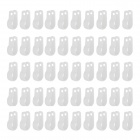 R-Type Plastic Cable Clips - Weiß (50 PCS)