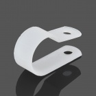 R-Type Clips de cable de plástico - Blanco (50 PCS)