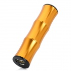 Bamboo Style 2200mAh Mobile Power Battery Charger w / Adapter für iPhone / Samsung - Golden