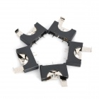 Battery Holder for CR2032 Coin Cell - Black (5 PCS)