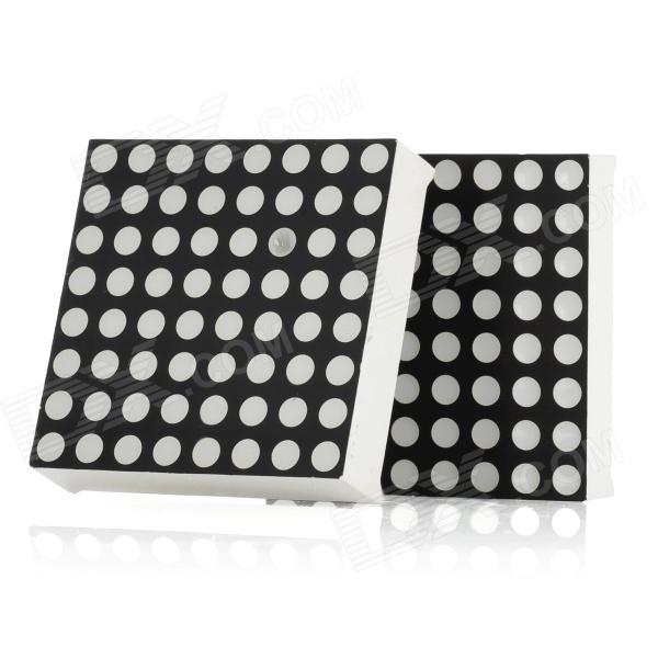 Mini 8 x 8 Red LED Display Common Cathode Dot Matrix Module - Black + White (2 PCS)DIY Parts &amp; Components<br>Model:Form  ColorWhiteMaterial:Packing List<br>