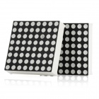 Mini 8 x 8 Red LED Display Common Cathode Dot Matrix Module - Black + White (2 PCS)