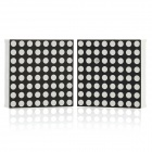 Mini 8 x 8 rote LED-Anzeige Common Cathode Dot-Matrix-Modul - Schwarz + Weiß (2 PCS)
