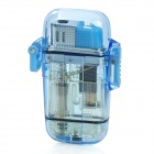 Cool Red Flame Windproof Butane Jet Lighter - Transparent Blue
