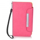 KALAIDENG Protective PU Leather Flip-Open Case for Sony LT26W - Pink