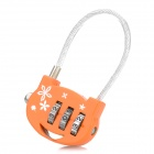 Cute Shoulder Bag Stainless Steel Password Code Travel Suitcase Lock - Orange