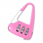 Handbag Style Stainless Steel Password Code Travel Suitcase Lock - Pink