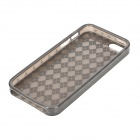 Diamond Pattern Protective TPU Back Case for Iphone 5 - Transparent Black