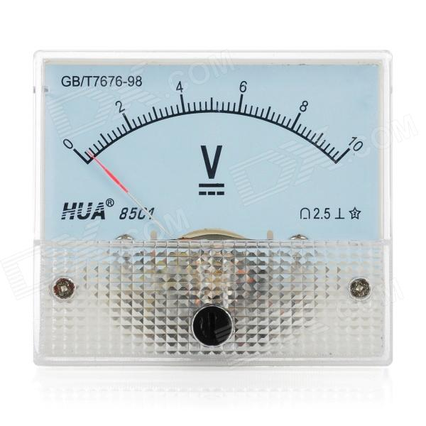 Analogue 10V Compact Panel Mount DC Voltmeter - White analogue dc 500v voltage panel meter white