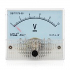 Analog 10V Compact Panel Mount DC Voltmeter - White