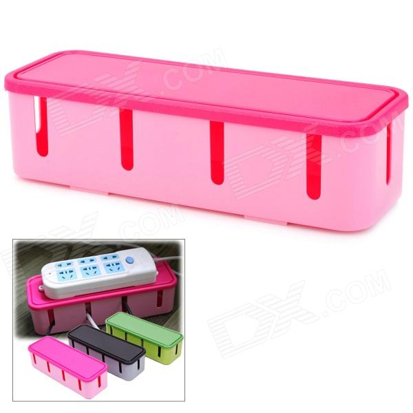 Fashion Power Socket Cable Storage Box - Pink