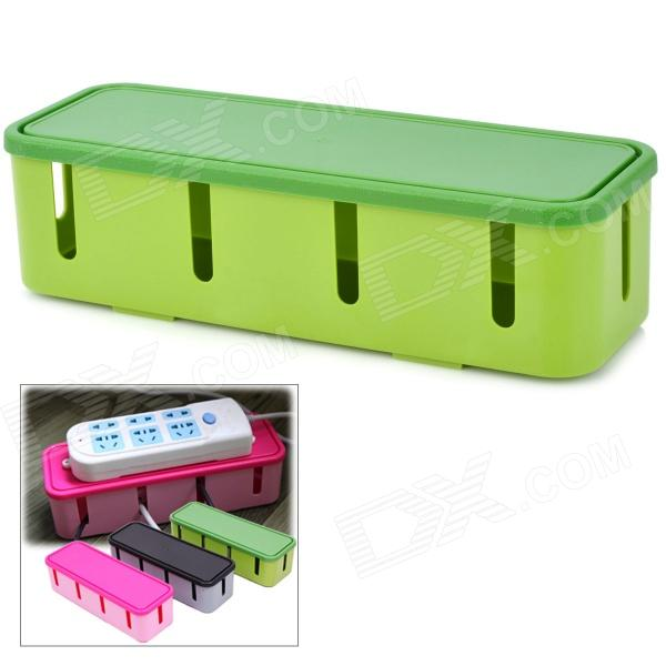 Fashion Power Socket Cable Storage Box - Green