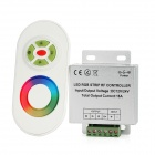 2-in-1 DC 12V / 24V RF Wireless Touching Remote Controller for RGB LED Strip Set - White + Grey