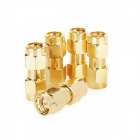 Copper RF SMA Coaxial Connector Adapter - Golden (5 PCS)