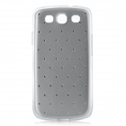 Grid Style Protective ABS Back Case for Samsung Galaxy S3 i9300 - Silver