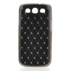 Protective ABS Plastic + Metal Case for Samsung i9300 Galaxy S3 - Black + Silver