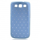 Protective ABS Plastic + Metal Case for Samsung i9300 Galaxy S3 - Blue + Silver