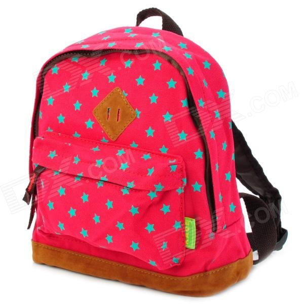Cute Star Pattern Kid S Leisure Schoolbag Backpack Red Green Free Shipping Dealextreme