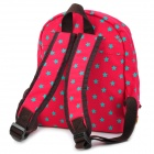 Cute Star Pattern Kid's Leisure / Schoolbag Backpack - Red + Green