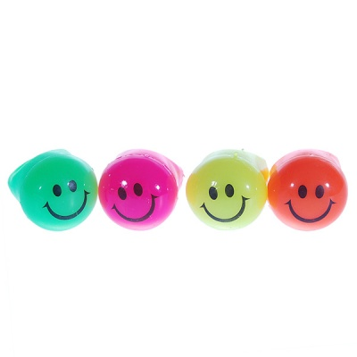 Smiley Face Multi-color LED Flashing Rings (4-Pack)