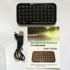 Mini Handheld Rechargeable Bluetooth 3.0 49-Key Wireless Keyboard - Black