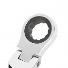 REWIN RJ-317 Chrome-Vanadium Steel 2-in-1 17mm Open End + Double Box End Combination Wrench