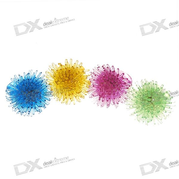 Stretchy Silicone Sea Urchin LED Rings (4-Pack)