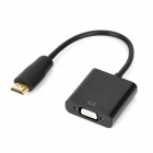HDMI Male to VGA Female Adapter - Black (15cm-Cable)
