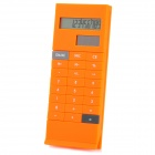 3.8&quot; LCD Display Solar Powered 10-Digit Pocket Calculator - Orange