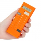 "3.8"" LCD Display Solar Powered 10-Digit Pocket Calculator - Orange"